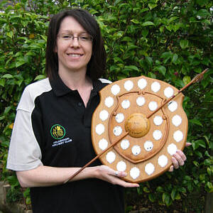 2009 National Ladies Recurve Clout Champion - Liz Bowyer of Arundown AC
