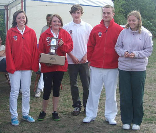 Sussex took second place in the Recurve Championships, one place higher than last year, and they look justifiably pleased with their efforts: Bryony Pitman, Hayley Foord, Will Martin, Tom Winkworth and Abigail Goacher